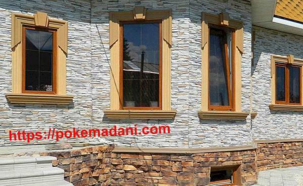 پوکه معدنی در نمای بیرونی ساختمان